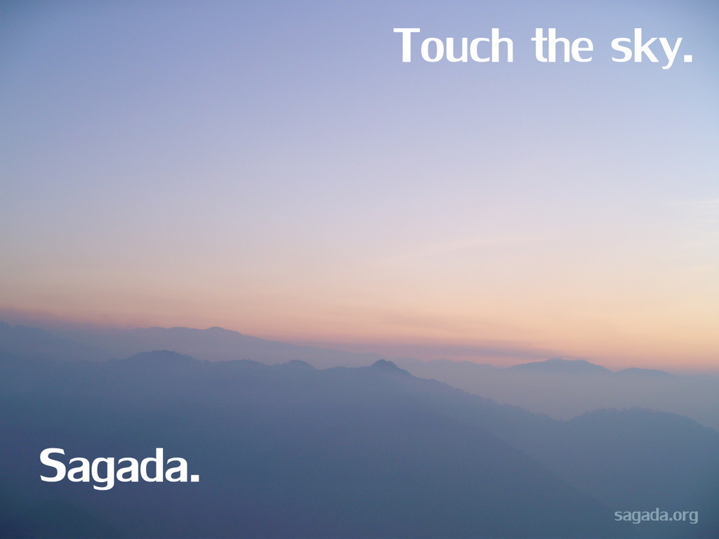 Touch the sky. Sagada.