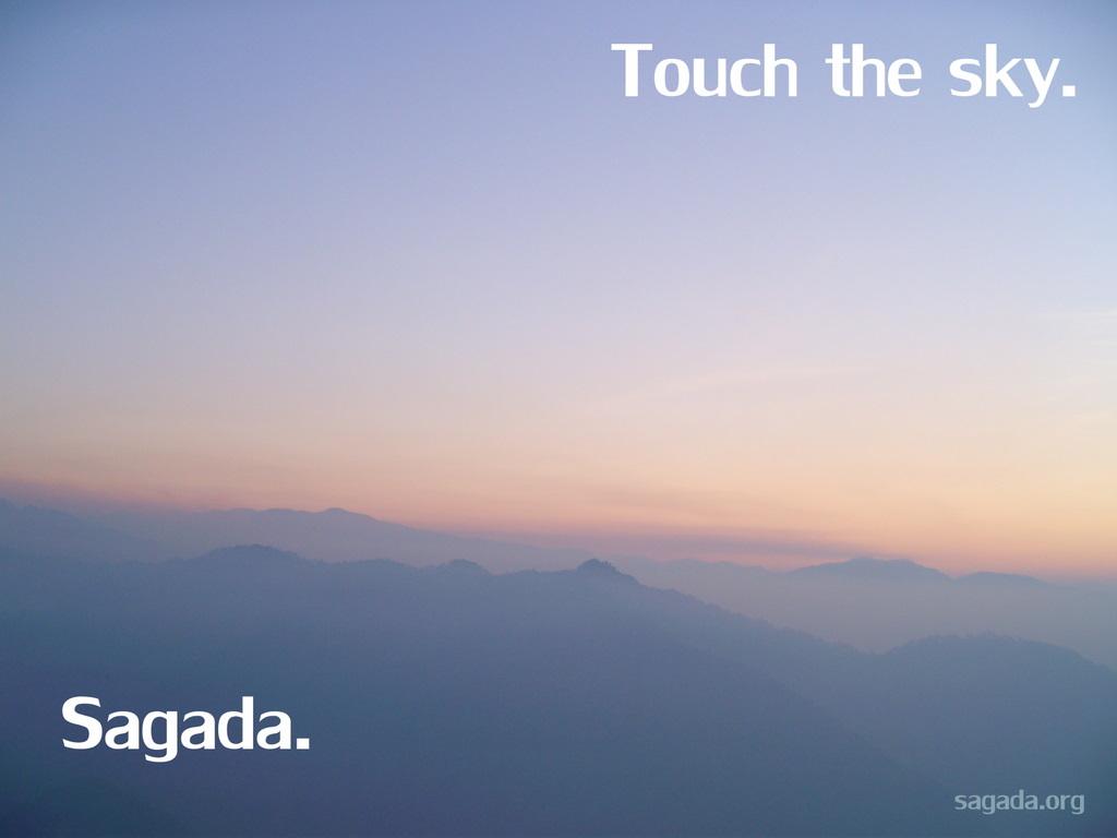 Touch the sky. Sagada.